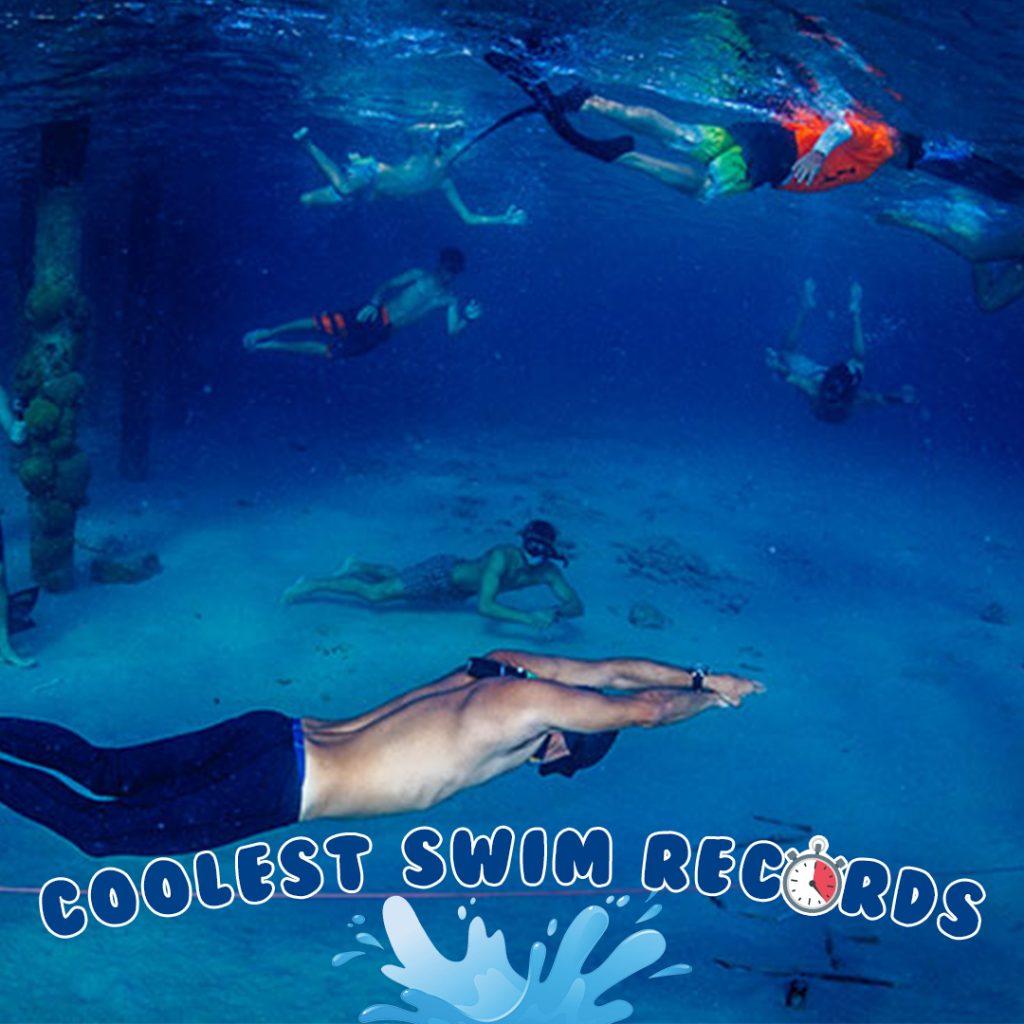 Carlos Coste 177 meters swim