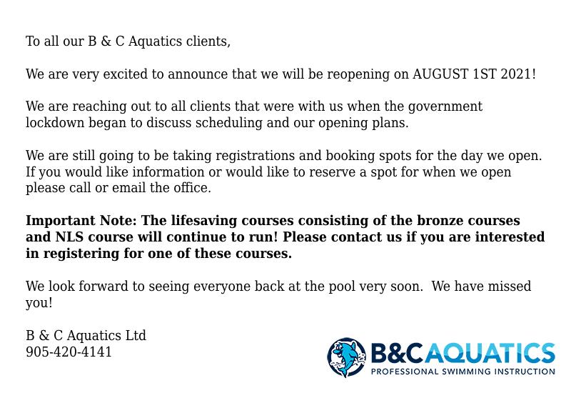 Lockdown Notice July 14