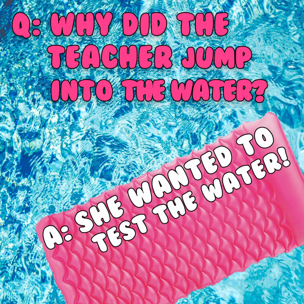 why did teacher jump into water