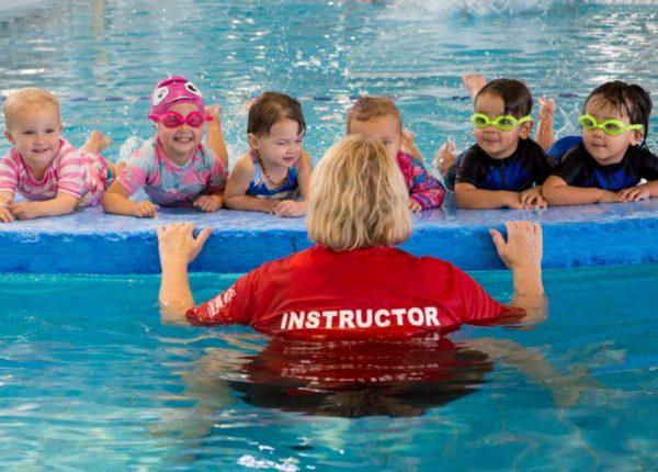 Child Swimming Image